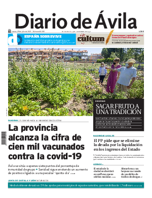 Portada Diario de Ávila